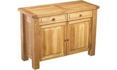 Oak 2 door 2 drawer sideboard: Owen Pine and Oak Furniture - Oak Dining Bretagne