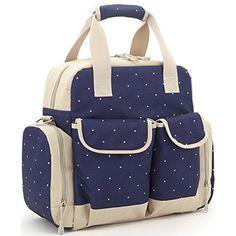 Orgrimmar Multifunction Diaper Tote Bags Baby Nappy Bag Larger Capacity Mummy Handbag Backpack (Blue)