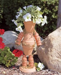 Garden Pot People | Clay Pot Garden People Infospace Web Search Pictures