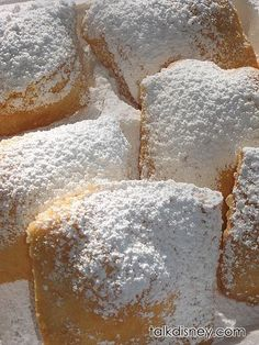 Beignets Recipe from Disney's Port Orleans French Quarter- OMG I seriously LOVED these when we stayed there! Can't wait to try to replicate them!!!!