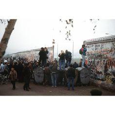 Opening in the Berlin Wall at Potsdamer Platz