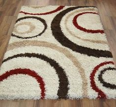 aura 3922-w ivory / brown / red image 1