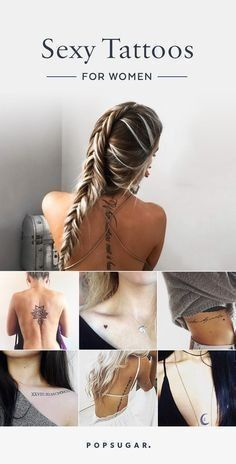 Tattoo ideas for women who aren't afraid to show off their sexy side.
