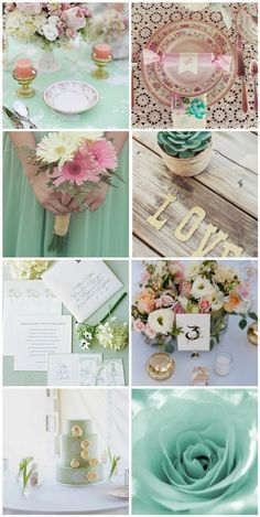 springy wedding - decor + color