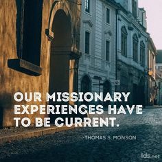 Missionary experiences!