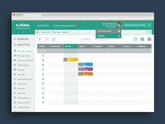 Flat UI - web app calendar