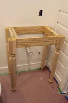 41 New Ideas Diy Bathroom Vanity Farmhouse Furniture Farmhouse Bathroom Sink, Diy Bathroom Vanity, Diy Farmhouse Table, Diy Vanity, Basement Bathroom, Bathroom Styling, Modern Bathroom, Bathroom Ideas, Vanity Ideas