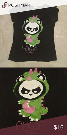 Angry Panda Tee! One of my favorite shirts, sad to see it go. Too small for me now. Has some slight cracking in the design but in otherwise perfect condition! Size M. Angry Panda Tops Tees - Short Sleeve