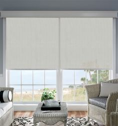 Bali® Solar Shades shown in Benton: Pewter