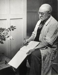 Henri Matisse drawing 1939, by Brassaï © Estate Brassaï - RMN-Grand Palais