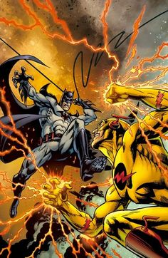 Flashpoint: Batman vs Professor Zoom by José Luis García-López Marvel Comic Books, Comic Books Art, Marvel Comics, Batman Vs, Mendoza, Gotham, Flashpoint, O Flash, Hanna