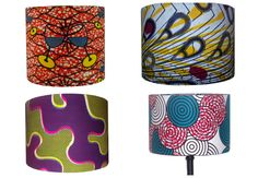 Here comes the Sun - Bright Multi Colored African Print Handmade lampshades by www.ankaralampshades.etsy.com