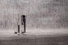 Dots - Handloom rug in wool and viscose