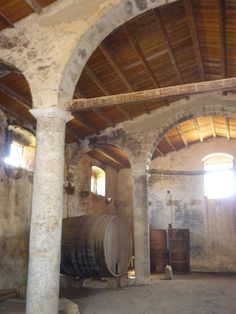 Antique wine warehouse in south Sicily