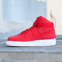 The Nike Air Force 1 High '07 in red is available on CityGear.com