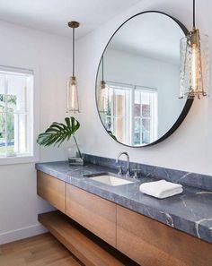 30+ Adorable Floating Vanities for Fascinating Bathroom #contemporarybathrooms