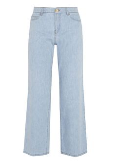 Rain check: Valentino high-rise wide-leg jeans