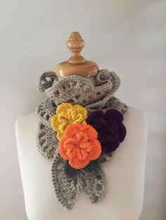 Check out this item in my Etsy shop https://www.etsy.com/listing/559862113/crochet-scarves-crochet-flower-lace