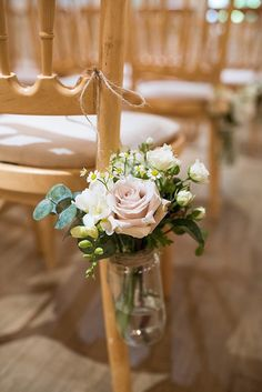 Pew Ends Ceremony Aisle Flowers Jars Beautiful Country House Wedding http://www.fionasweddingphotography.co.uk/