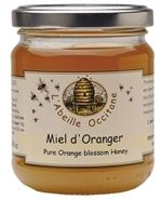 You can see and taste the warmth of this honey. The orange blossom flavoring radiates through the jar.