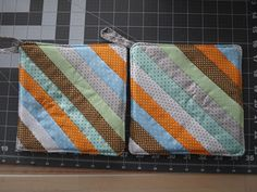 Homemade Heat Resistant  Quilted  Potholders--Set of 2--