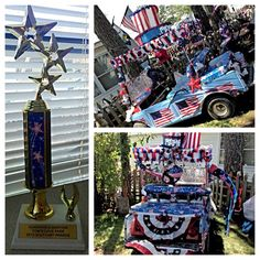 july 4th golf cart decorations
