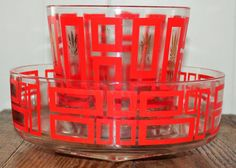 Vintage Mid Century Jeanette Chip and Dip by BluePlateKitchen