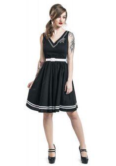 """Abito di media lunghezza """"Ariel Dress"""" del brand #HellBunny."""