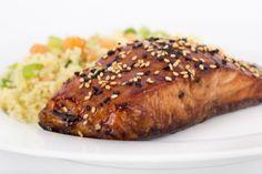 Novedoso salmón glaseado