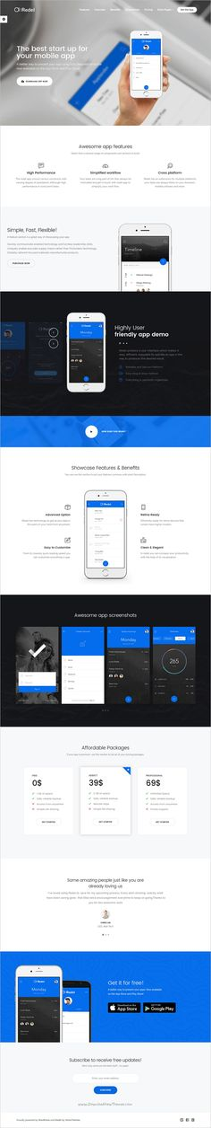 Redel is a smart and clean look responsive #WordPress theme for mobile, web #app and #service landing page websites with multiple homepage layouts download now➩ https://themeforest.net/item/applander-responsive-app-landing-wordpress-theme/18708130?ref=Datasata