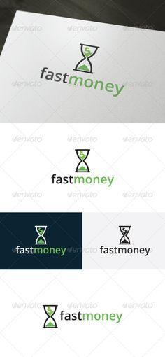 Fast Money - Logo Design Template Vector #logotype Download it here: http://graphicriver.net/item/fast-money-logo/6642438?s_rank=923?ref=nesto