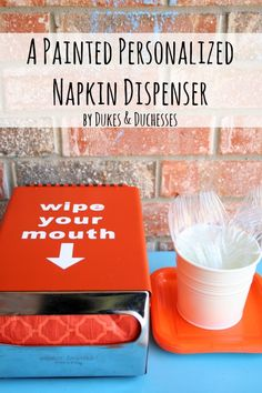 a rejected restaurant napkin dispenser turned into a fun accessory for summer entertaining