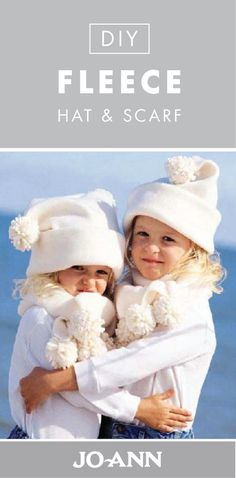 Get your little ones ready for winter by making them their own DIY Fleece Hat and Scarf! With pom-pom details on both of these homemade accessories, your kids are sure to love them.