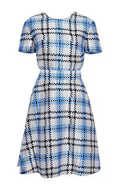 Thom Browne Silk Check Flared Dress, $1,800; modaoperandi.com     - ELLE.com