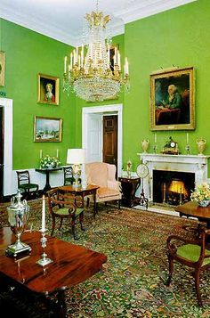 The Green Room. The White House, Washington DC.    We have had the honor to visit the White House twice.    Everyone should do it.