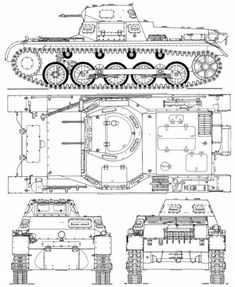 Sd.Kfz. 101 Pz.Kpfw.I Ausf.B Tank Drawing, Scale Model Ships, Military Drawings, Armoured Personnel Carrier, War Thunder, Armored Fighting Vehicle, Ww2 Tanks, World Of Tanks, Military Equipment