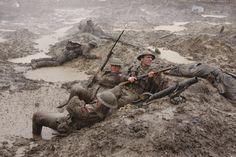 Blog: https://justinfoxafrica.wordpress.com/category/blog/ Caption: Fighting in the Passchendaele mud. (photo: Das Feld der Ehre – Passchendaele)