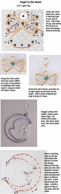 Angel in the MoonFree Diy Jewelry Projects | Learn how to make jewelry - beads.us