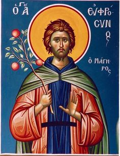 Greek orthodox icon of Saint Euphrosynos the Cook (3) – orthodoxmonasteryicons.com
