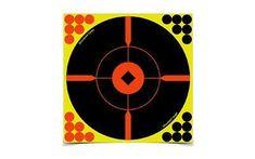 Birchwood Casey Shoot-N-C Target, Round, Crosshair Bullseye, 8 inch, 6 Targets