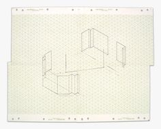 Fred Sandback  Untitled, ca. 1970's  Pencil on isometric paper  Image/Paper size: 16 x 19 1/2 inches