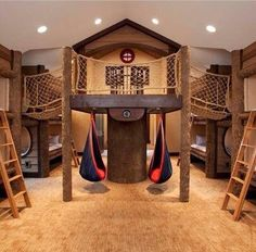 Rethinking a bonus room over the garage for our Grand kids! Maybe not this extreme but wow!