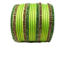 A personal favorite from my Etsy shop https://www.etsy.com/listing/212167629/neon-green-bangles