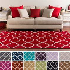 Complete any setting with this contemporary area rug. Hand-tufted with 100-percent poly acrylic,  this moroccan trellis area rug is sure to be the update you have been searching for.
