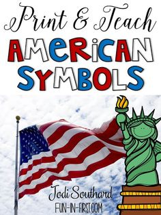 This American Symbols Print & Teach packet is the perfect supplement to your classroom for teaching about the common American Symbols. It includes short reading passages and comprehension practice. American Heritage Girls, American History, American Flag, Veterans Day Activities, Patriotic Symbols, Liberty, Constitution Day, National Symbols, American Veterans