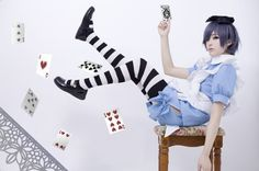 black butler ciel in wonderland cosplay
