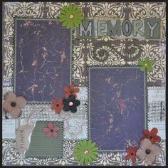 Memory. 12 X 12, 1 Pg Layout.