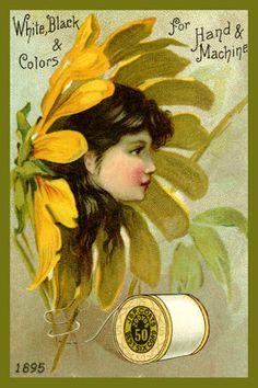 19th century trade card advertising J. & P. Coats thread