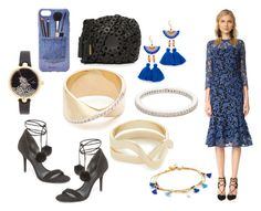 """""""lively blues......!!!!"""" by hillarymaguire ❤ liked on Polyvore featuring Shoshanna, Shashi, Adina Reyter, Elizabeth and James, Cloverpost, Kate Spade, Michael Kors, Iphoria and Zimmermann"""