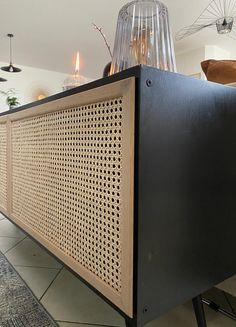 Diy cane doors for an IKEA hack Relooking meuble IKEA cannage Home Diy, Diy Headboard, Ikea Diy, Homemade Home Decor, Kirkland Home Decor, Diy Déco, Diy Home Decor For Apartments Renting, Home Decor, Home Deco